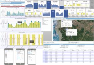 Exemplos de Supervisório do Sistema Web de Relatórios e Supervisório